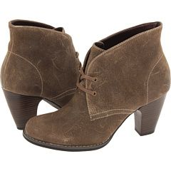 LOVE taupe lace up booties. These aren't too tall, just simple enough