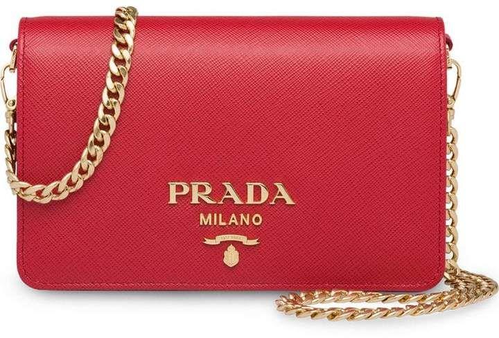 Photo of Prada Saffiano Leather Shoulder Bag