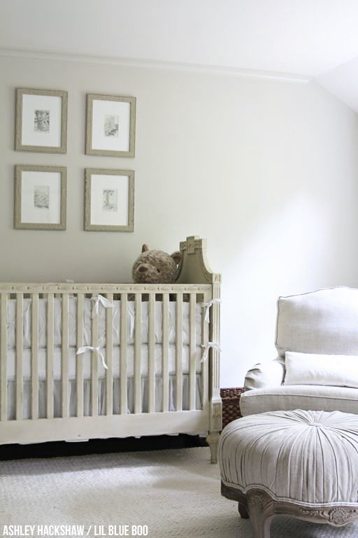 Neutral Nursery Wall Colors Restoration Hardware Inspired Edgecomb Gray From Benjamin Moore