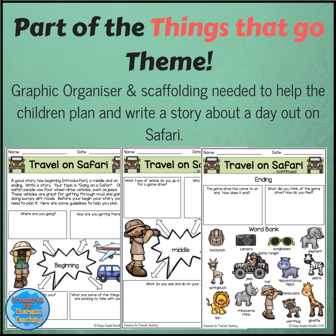 Things That Go Transport Theme Ela Reading Writing And