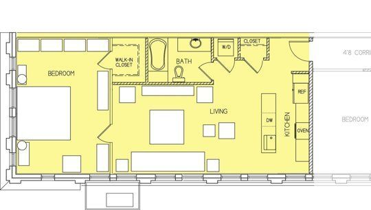David S Home Above The Jewelry Store Small Cool Small Apartment Plans Store Plan House Plans