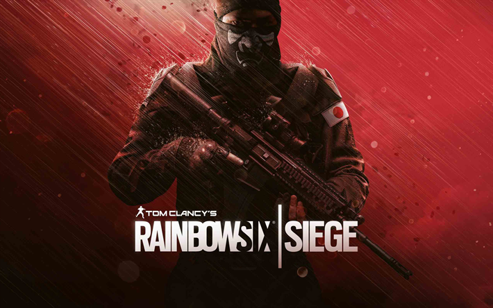 Download wallpapers Rainbow Six Siege, Japanese Operators