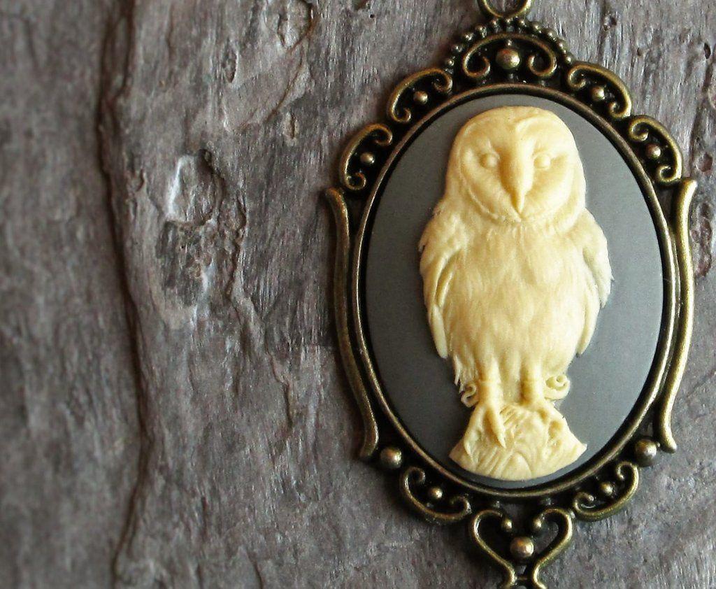 Grey owl cameo necklace in antique brass cameo necklace antique grey owl cameo necklace in antique brass aloadofball Choice Image