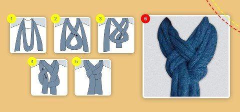 Prepárate para el invierno… Mira esta novedosa manera de usar tu bufanda.