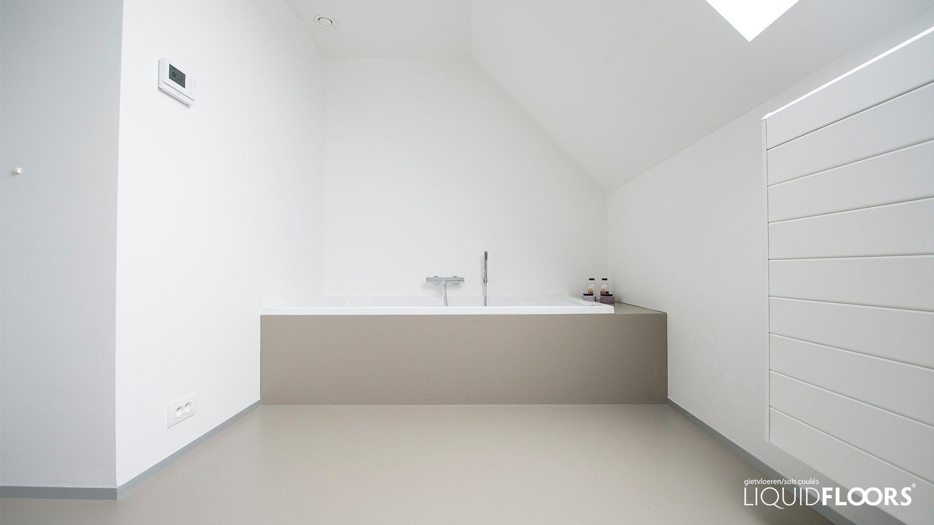 badkamer gietvloer LiquidFloors | Bathroom | Pinterest