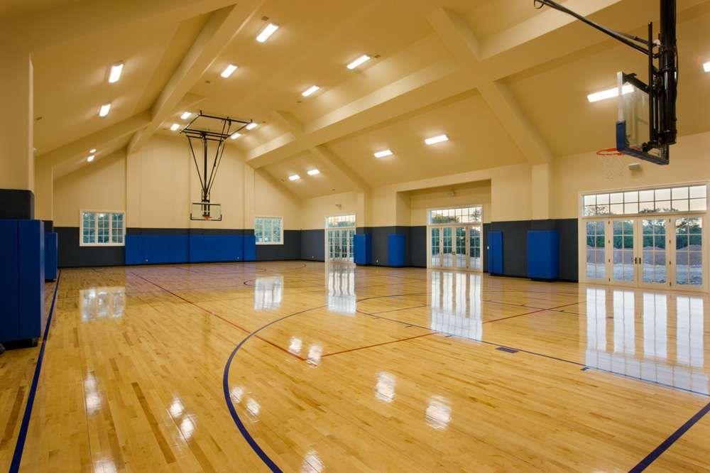 Heyl Homes Luxury Home Gallery Now That S A Indoor Sport Court Garage Gym Home Gym Garage Home Basketball Court