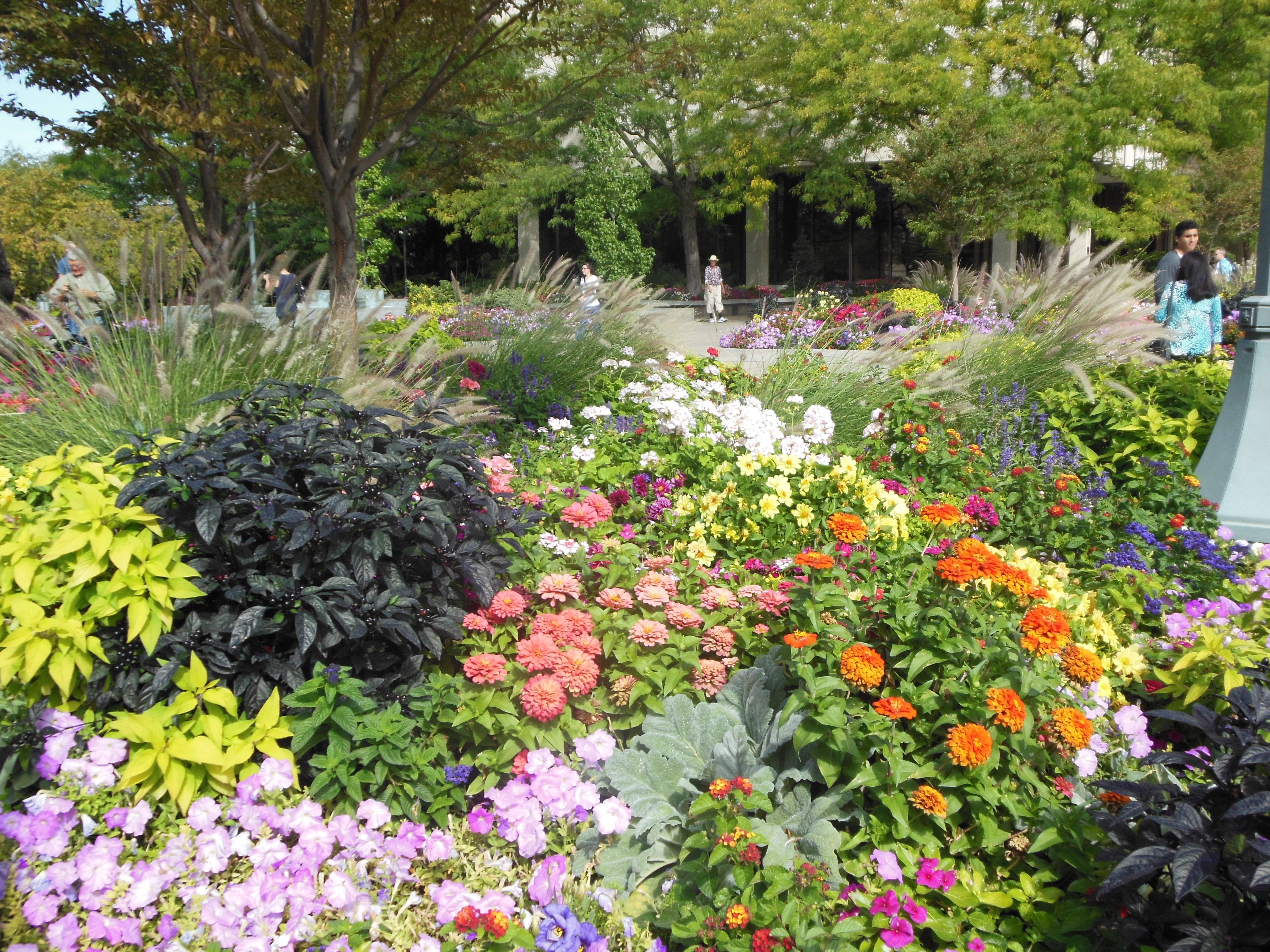"""Beautiful English Flower Garden english cottage gardens, rooftop gardens, colorful """"tossed"""" beds"""