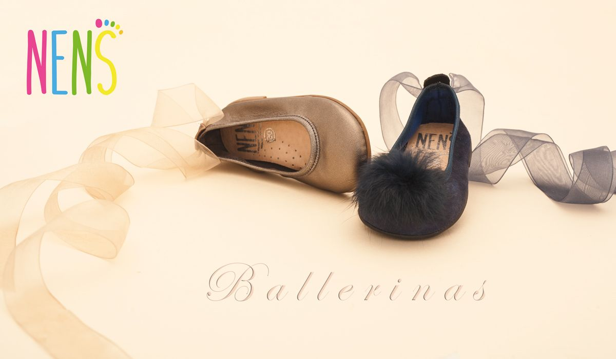 NENS LACE UP BALLERINAS W 2018 These NENS ballerina flats with ribbons are a sweet and girly fashion trend #nens #ballerinas #kidsfashion