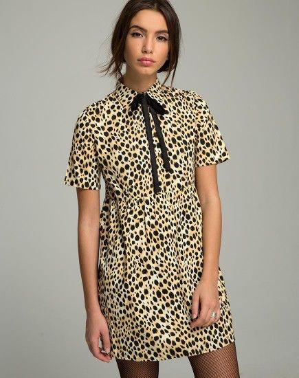 aa50ebf9d934 Metis Dress in Cheetah by Motel   My Style   Dresses, Babydoll dress ...