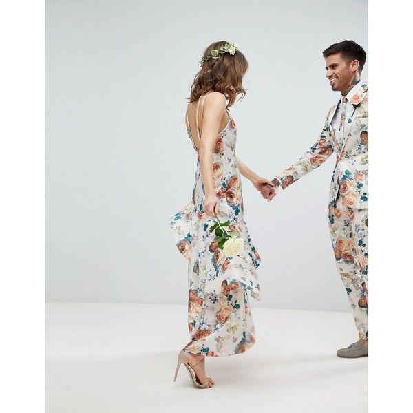 ASOS DESIGN Bridesmaid ruffle hem pinny bodice maxi dress in pretty ...