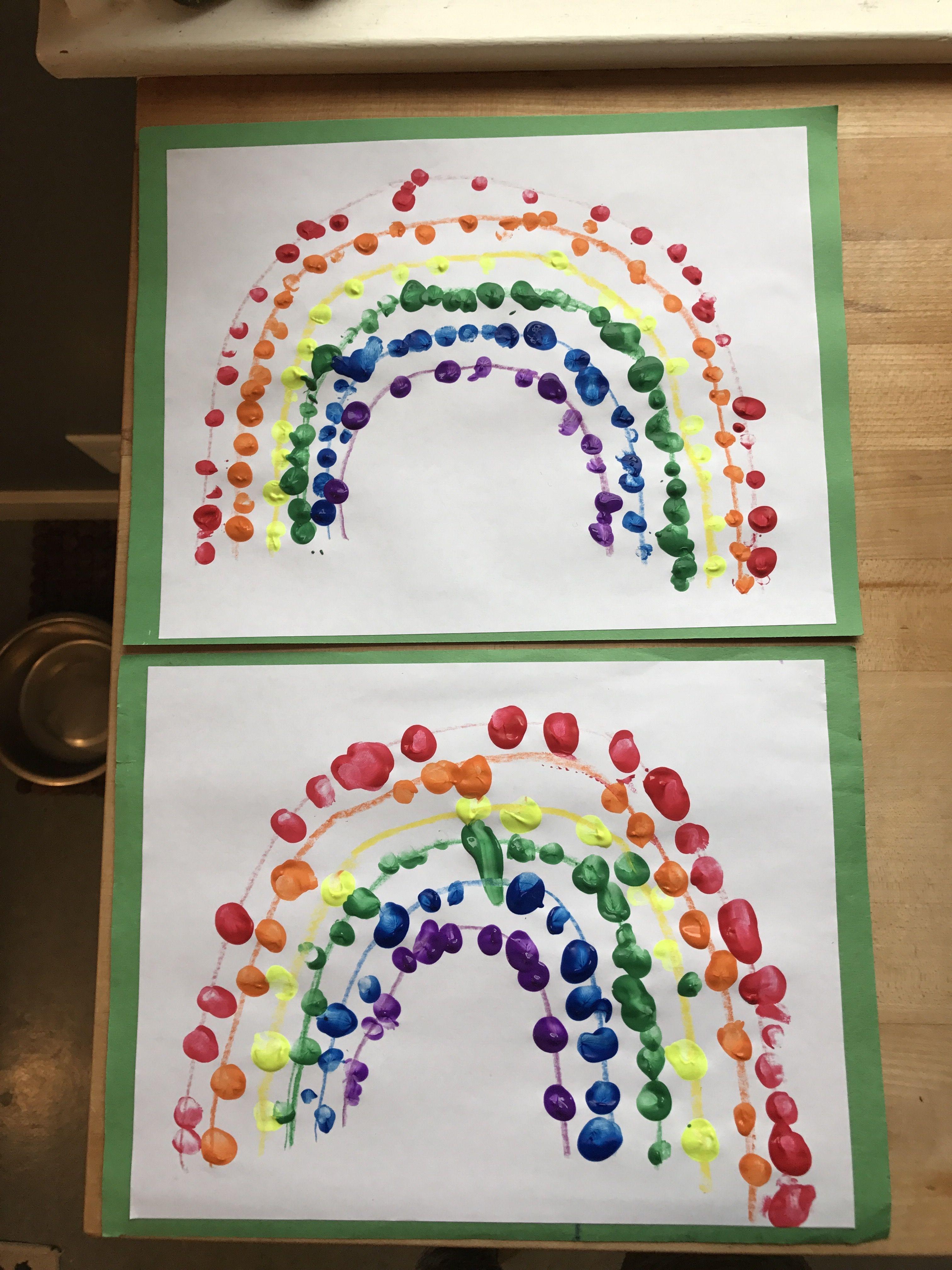 Fingerprint Rainbow Fun Preschool Craft To Practice