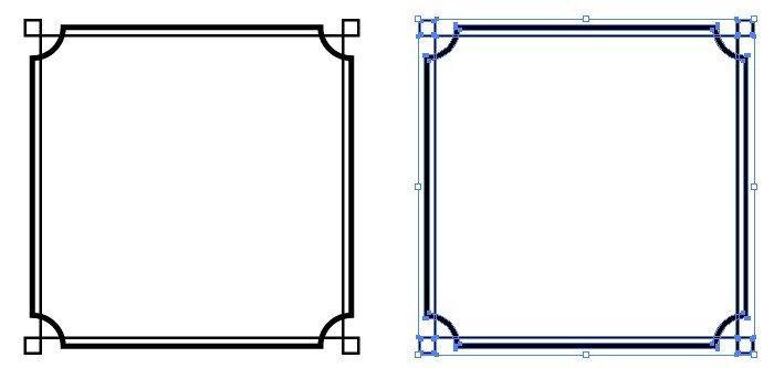 シンプルな四角のモノクロフレーム枠 枠 デザイン フレーム