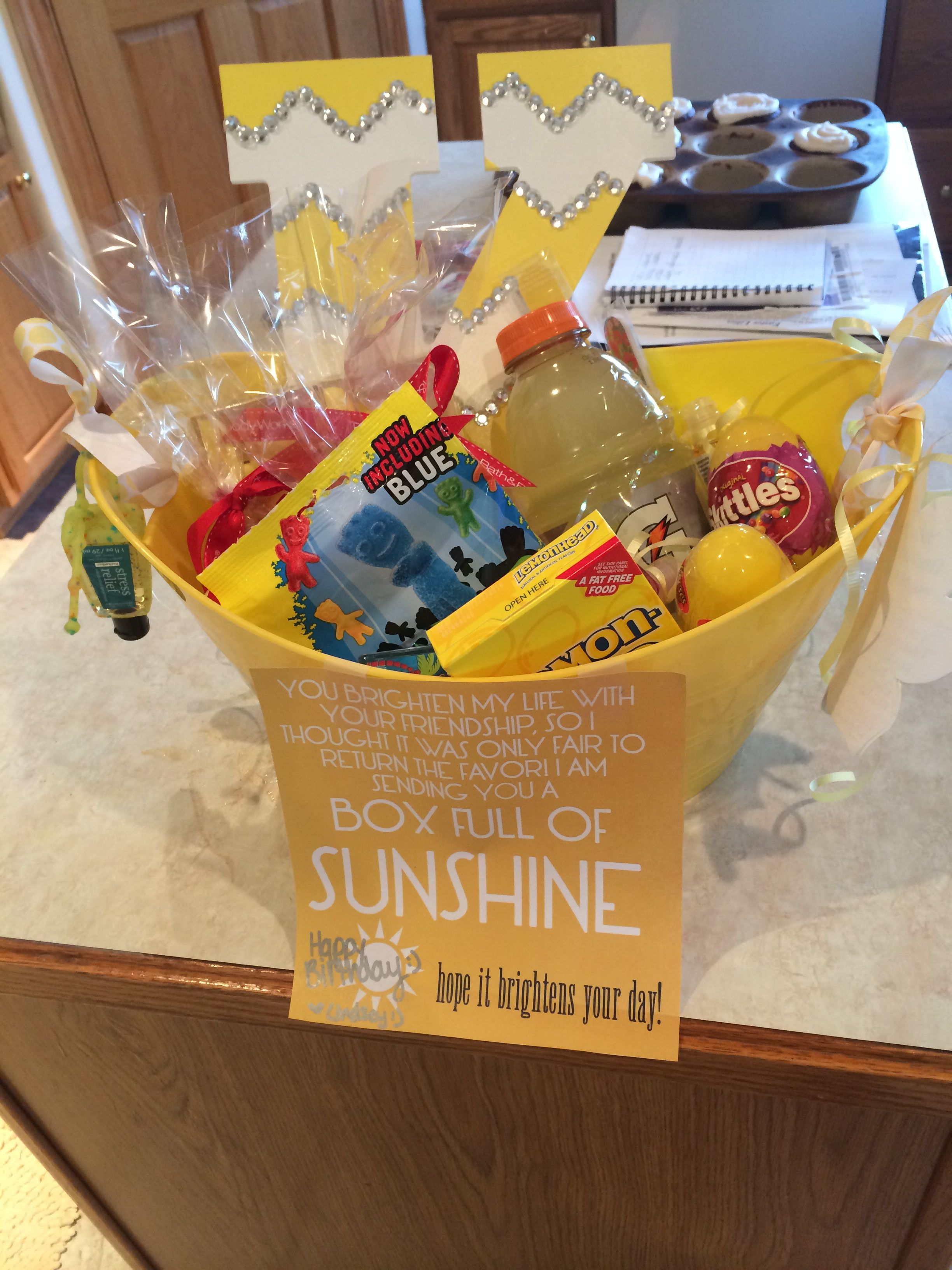 Bucket Of Sunshine I Made For My Best Friend Her Birthday Gift