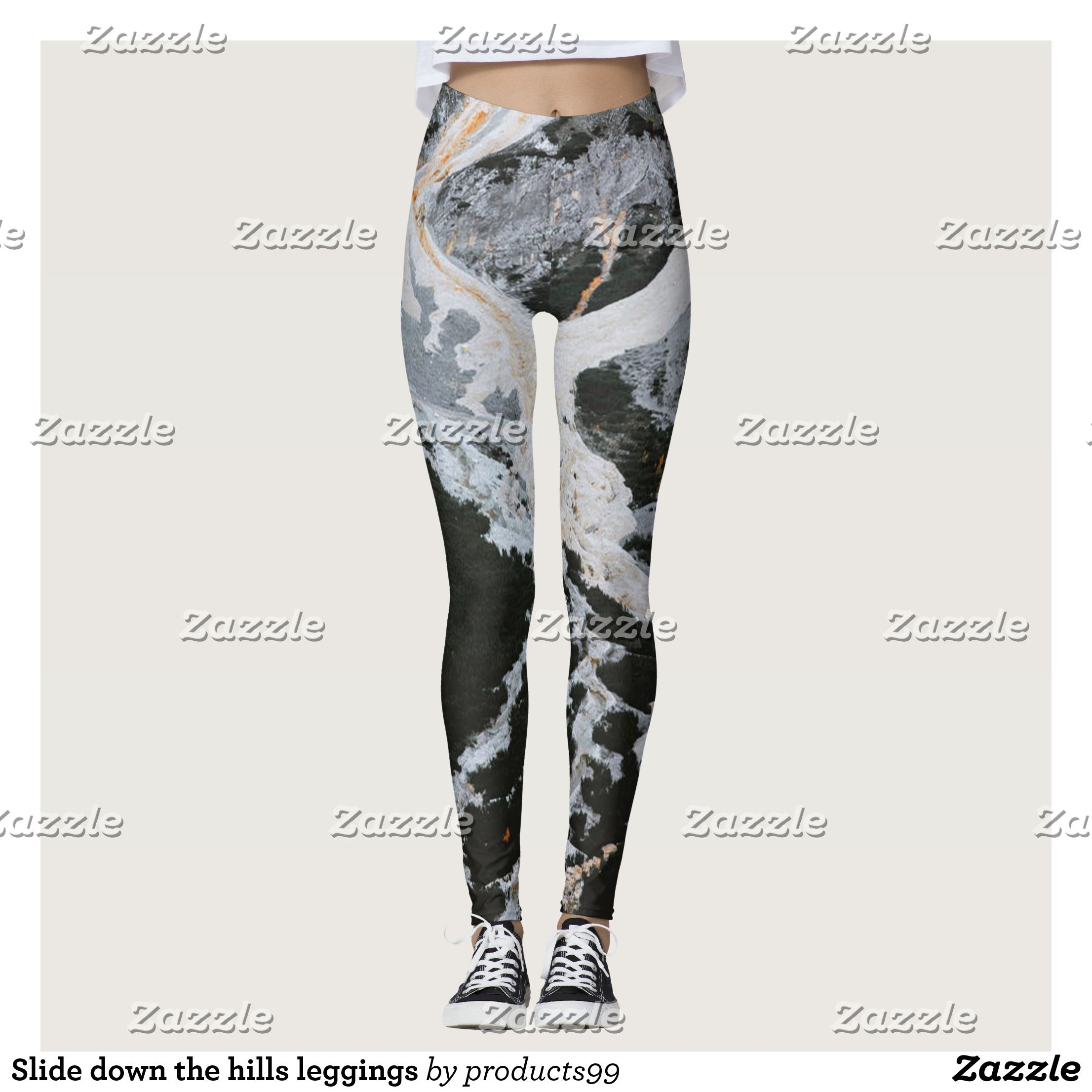 Slide Down The Hills Leggings Beautiful Yoga Pants Exercise Leggings And Running Tights Health And Training In Modern Leggings Fashion Outfits Clothes