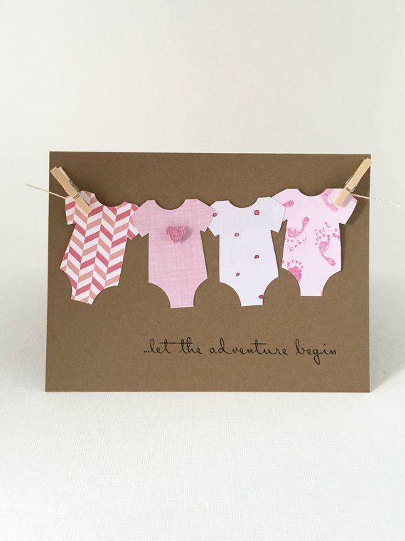 Baby Shower Cards, New Arrival Greeting card, Baby Boy, Baby Girl, Oh Baby, Banner baby clothes