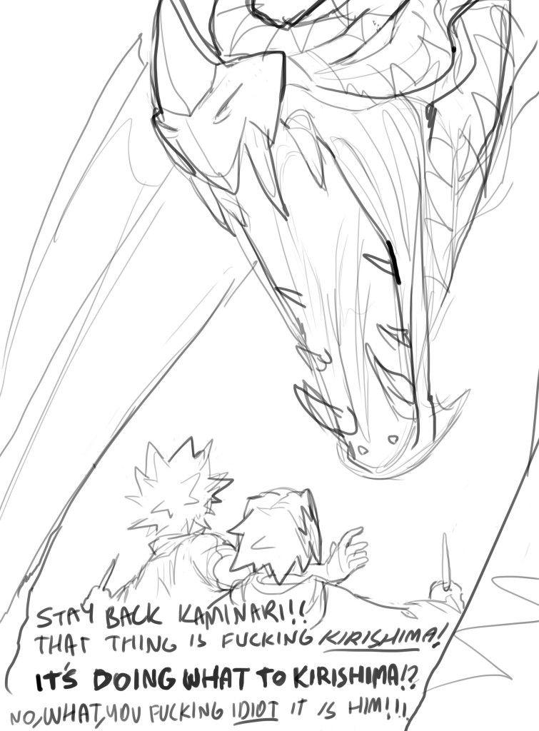 [Dragon] Kirishima Eijirou & Bakugou Katsuki & Kaminari