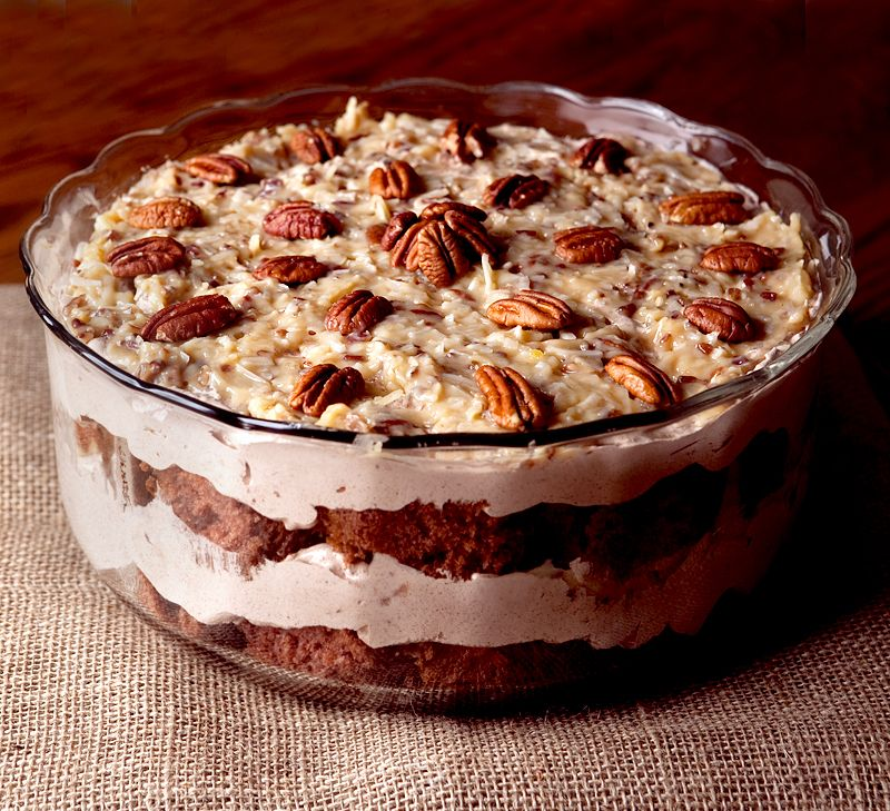 German Chocolate Cake Trifle - Brownie Bites Blog