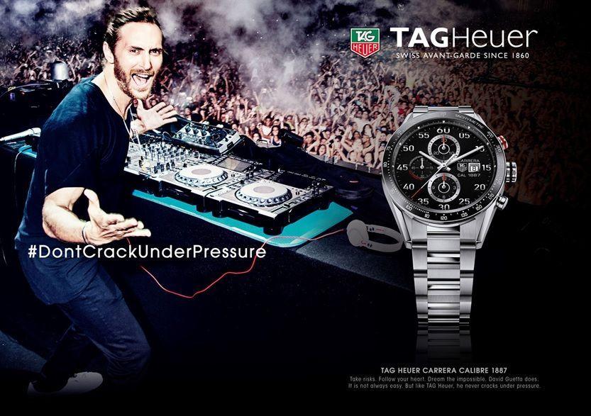 official photos c3a54 b6b8b DJ David #Guetta gets named as TAG Heuer new ambassador ...