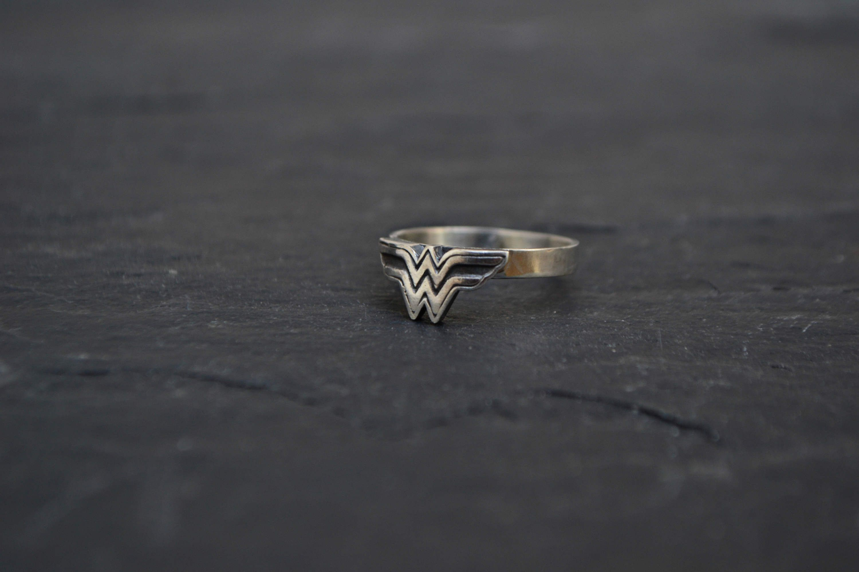 Wonder Woman Ring, Super Hero Wonder Woman 925 Sterling Silver Jewelry, Geeky Nerdy Girl Ring Jewelry by GeekMeABreak on Etsy https://www.etsy.com/listing/504698634/wonder-woman-ring-super-hero-wonder