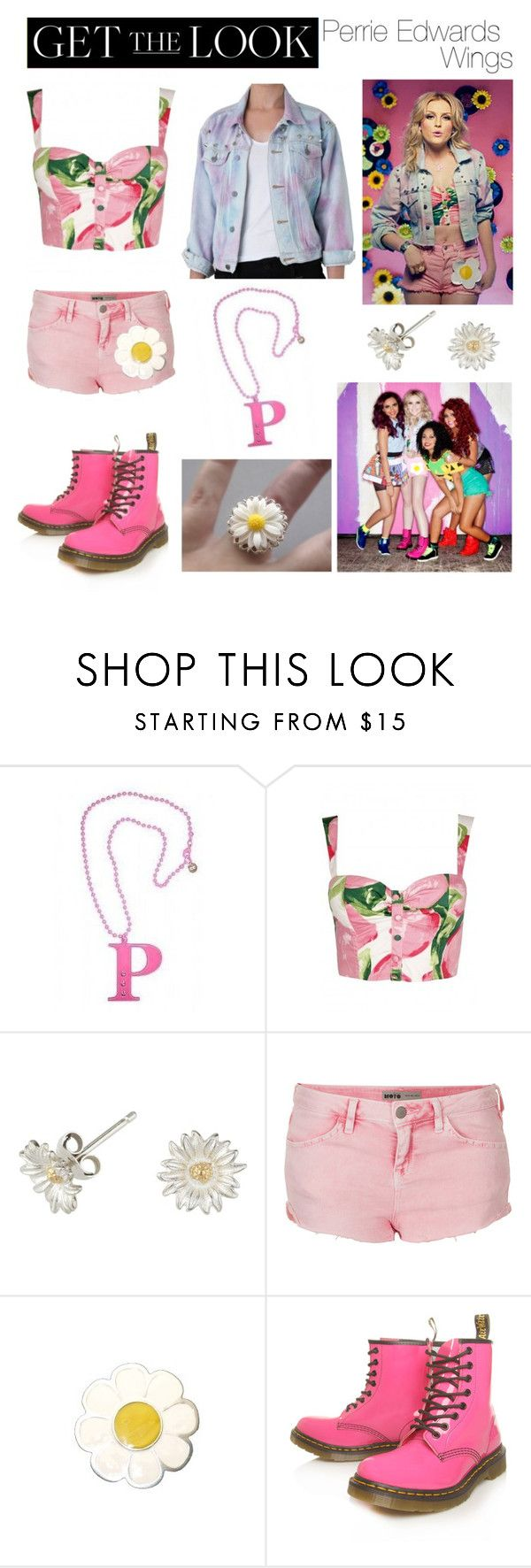 """""""Perrie Edwards. ♡♡♡"""" by claudia-ani ❤ liked on Polyvore featuring Anna Lou, The Ragged Priest, Dower & Hall, Topshop and Dr. Martens"""