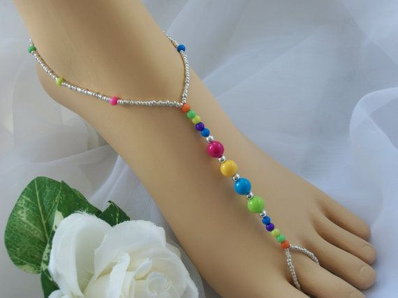 Candy Color Barefoot Sandals Foot Jewelry by JewelryByAngel, $15.00
