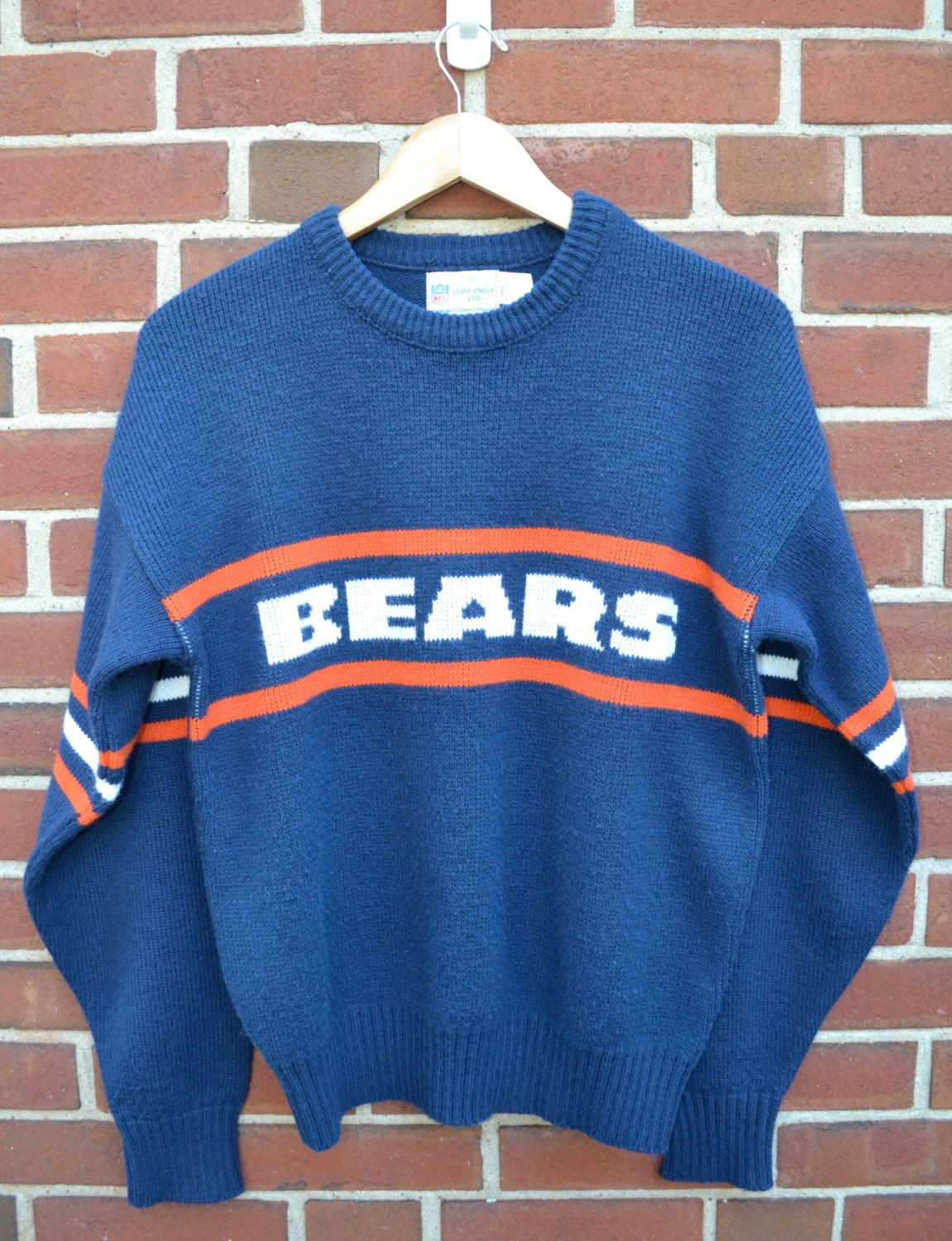 Cliff Engle NFL Proline Chicago Bears Sweater in Blue - 1980s