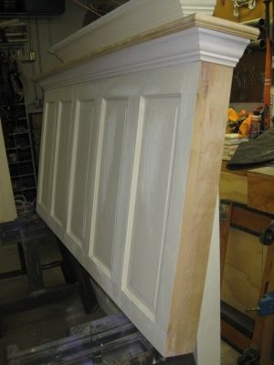 frisco shabby chic headboard made for a king size bed ready to be painted and