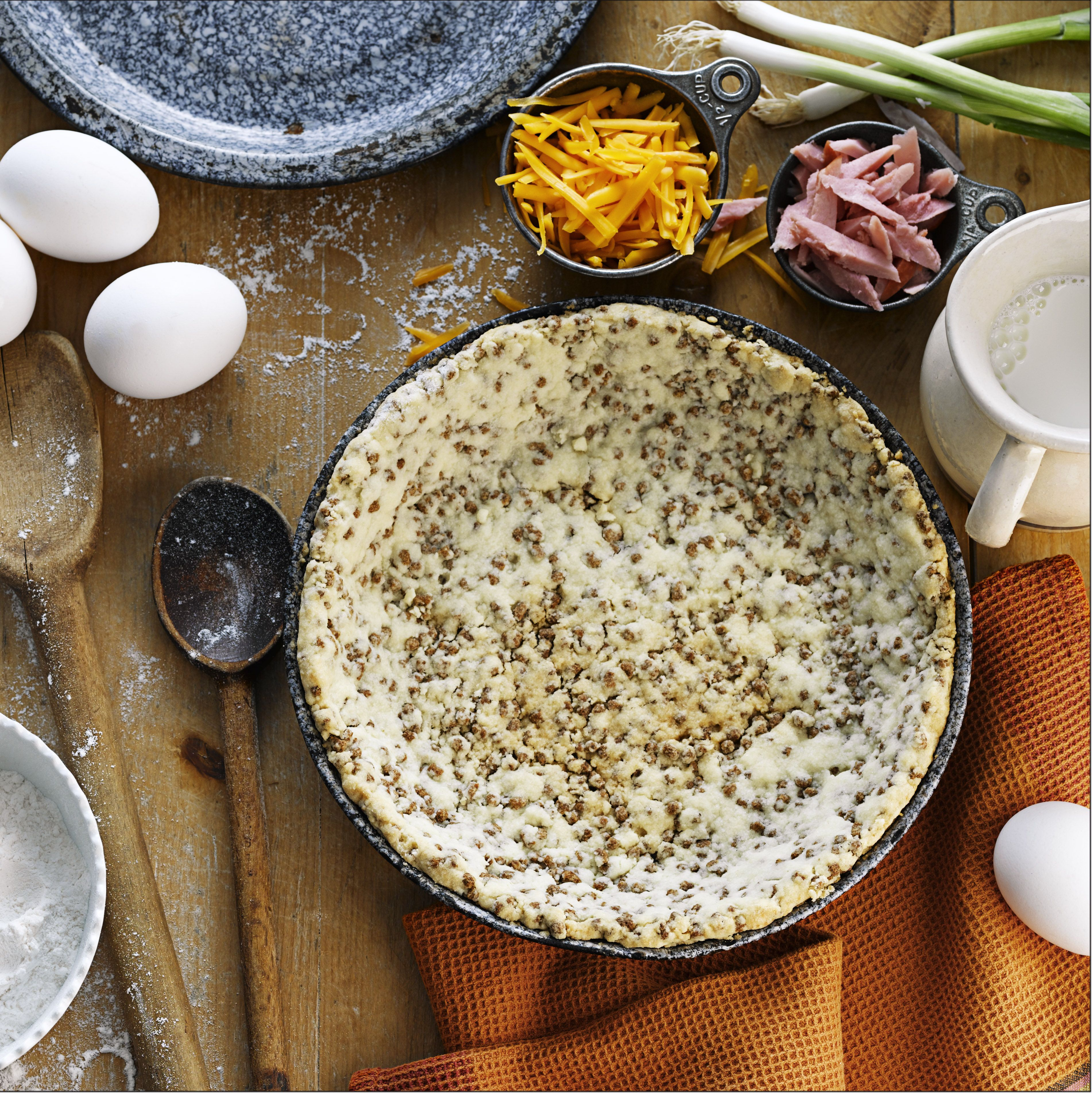 All-Bran™ Easy Pie Crust Recipe - Put away the rolling pin, this crust can simply be pressed into a pan using the back of a spoon. #AllBran #Recipe #Pie #Crust #ComfortFood #Fibre #Baking
