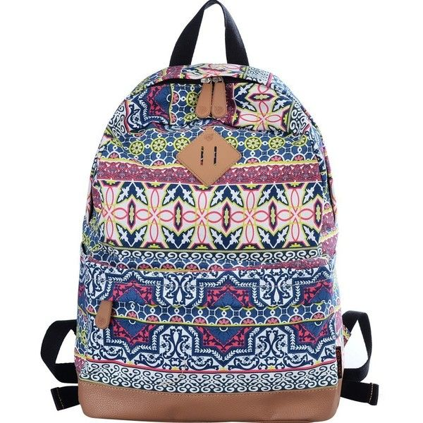 8de615c820 Amazon.com  DGY Womens Abstract Patterns Design Korean Fashion Preppy Style Backpack  G00133 (Blue)  Clothing featuring polyvore fashion bags backpacks blue ...