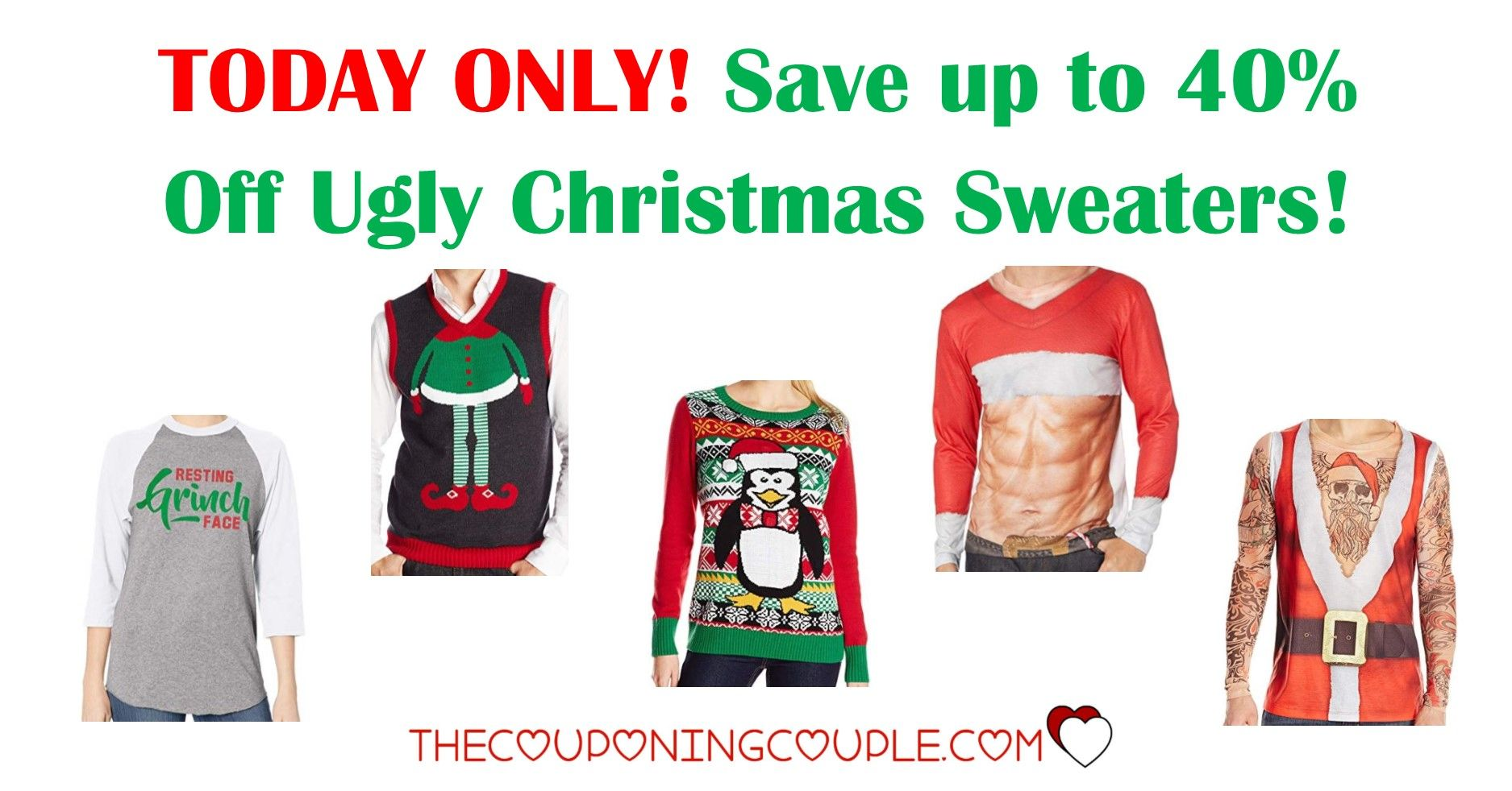Today Only Up To 40 Off On Ugly Holiday Sweaters Big Selection