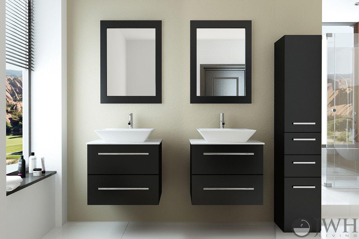 48 Carina Double Sink Vanity Stone Top Floating Bathroom Vanities Bathroom Vanity Bathroom Furniture Vanity