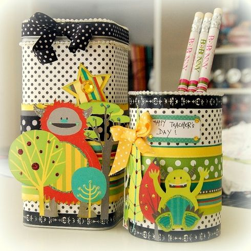 Altered Pencil Holder and Container by Licious