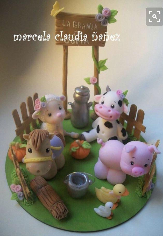 Little Farm Animalitos En Porcelana Fria Porcelana Fria
