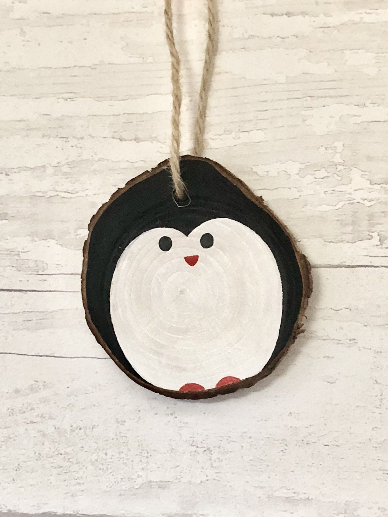"Wood Slice Ornament Personalized Pet Ornament 3"" Christmas Holiday Rustic"