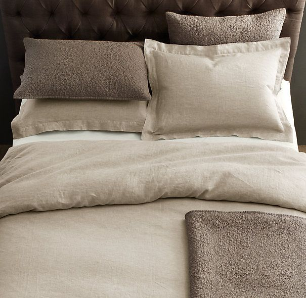 Vintage-Washed Belgian Linen Duvet Cover | Master Bedroom ...