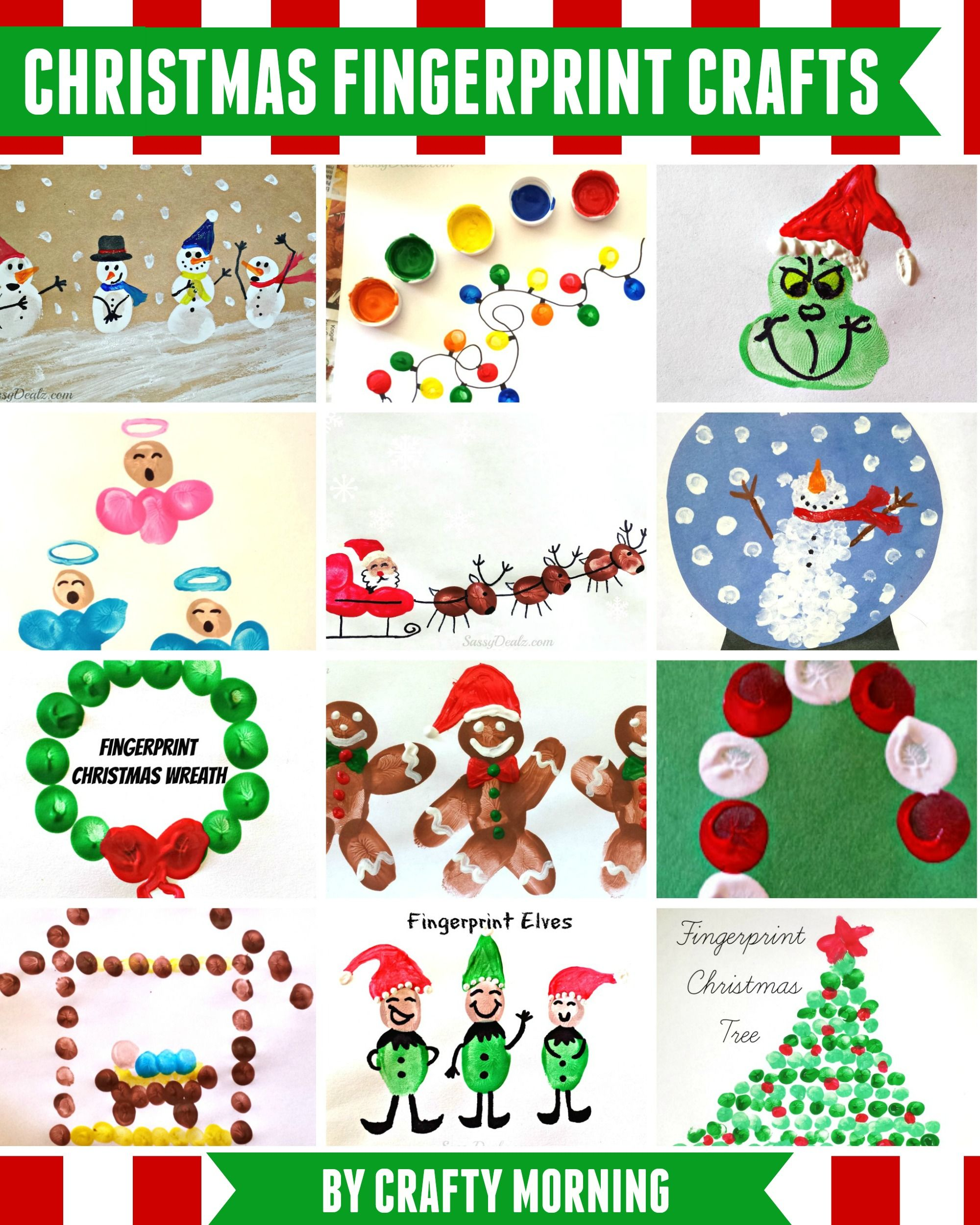 Christmas fingerprint crafts by michelle at craftymorning - Sassydeals com ...