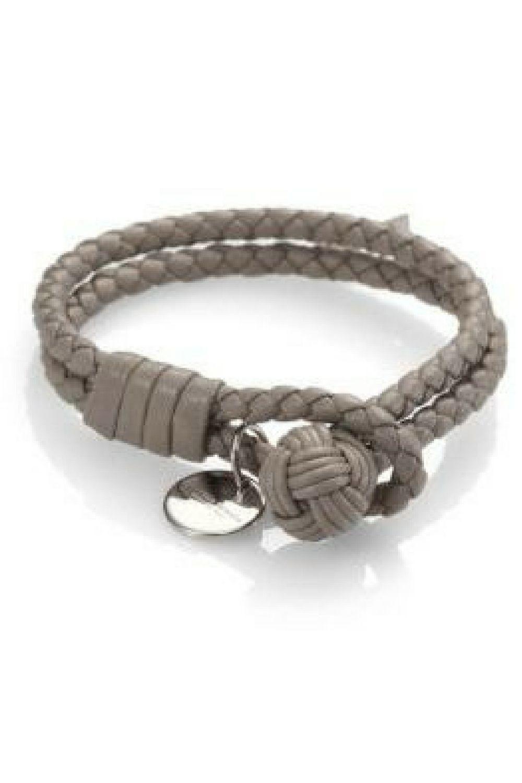 d43b3b221319b2 $250 Bottega Veneta Intrecciato Leather Double-Row Wrap Bracelet A double-strand  bracelet of