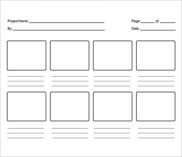 Storyboard Sample In Word Storyboard Template Storyboard Template