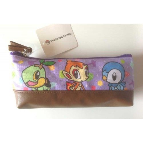Pokemon Center 2013 Pokemon Petit Campaign Turtwig Chimchar Piplup Soft Pencil Case Bag