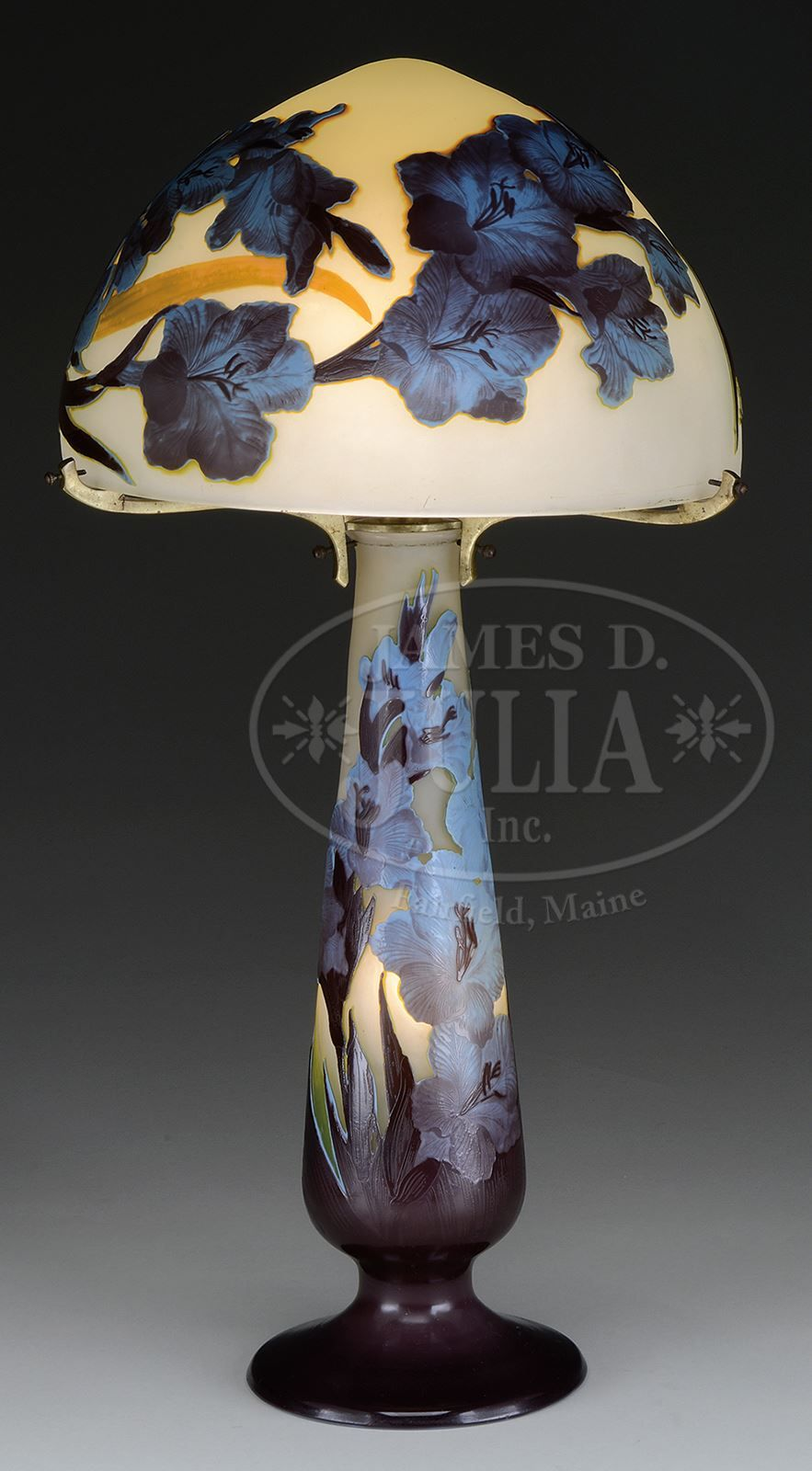 Galle Four Color Cameo Lamp Lamp Glass Art Galle
