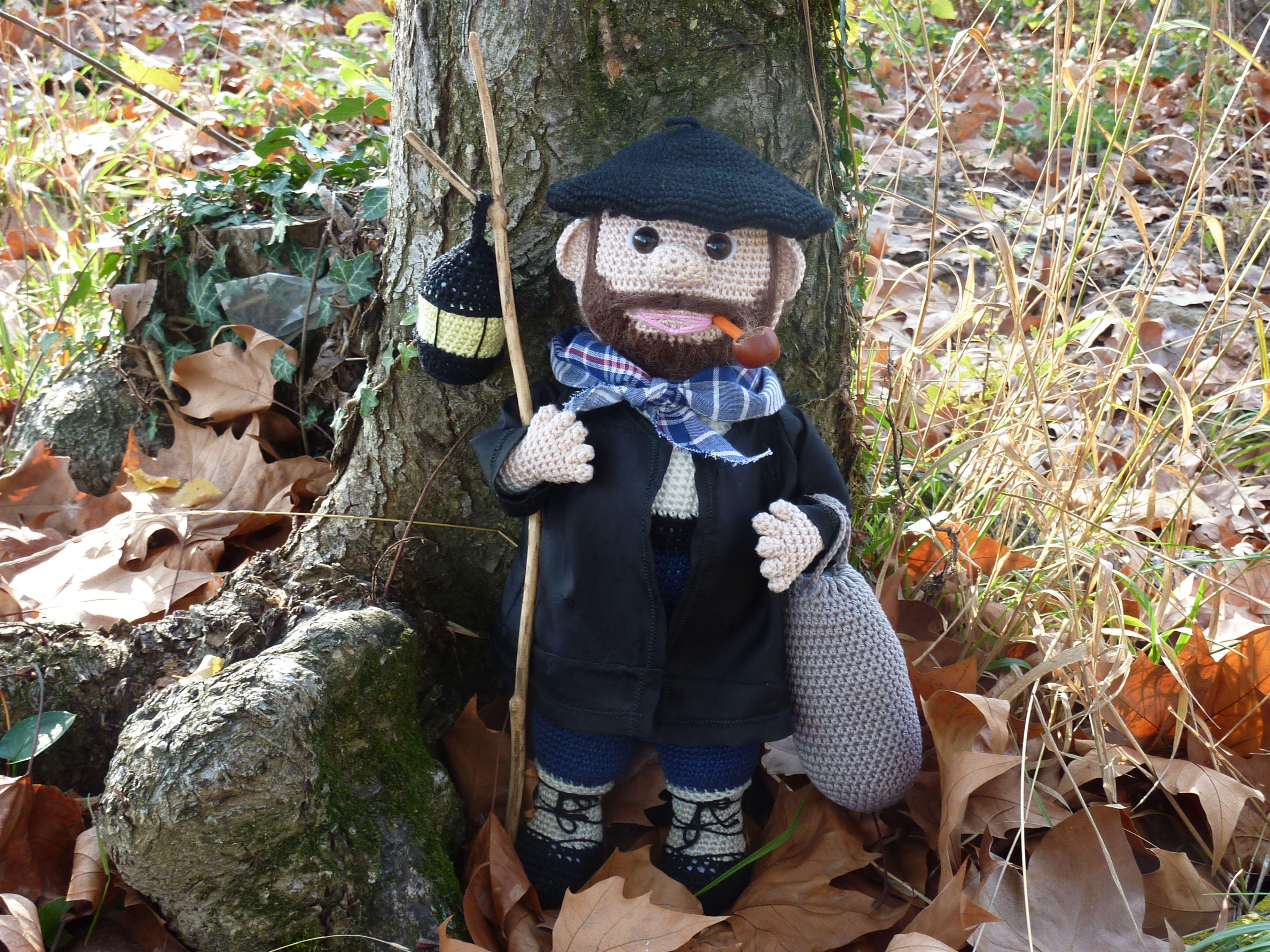 Amigurumi Crochet Personajes : Olentzero amigurumis sin patron personaje tipico navideÑo de