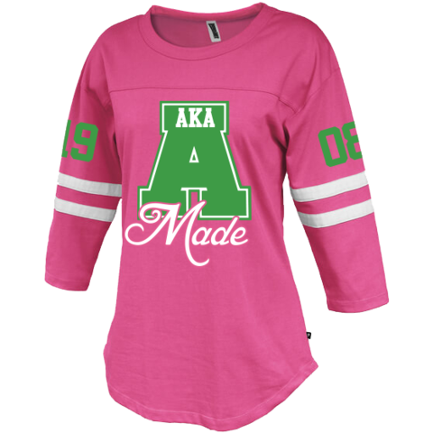 9f3a9b1fefe Alpha Kappa Alpha Vintage Stripe Jersey - Letters Greek Apparel - Black  Greek Paraphernalia - Divine Nine Greek Apparel