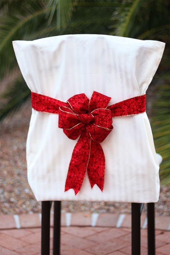 christmas chair covers pinterest table and for sale cover tutorials pillowcase