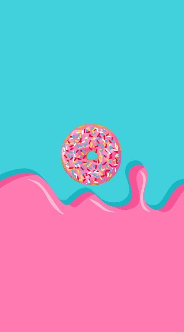 Sprinkle donut lock screen wallpaper background for