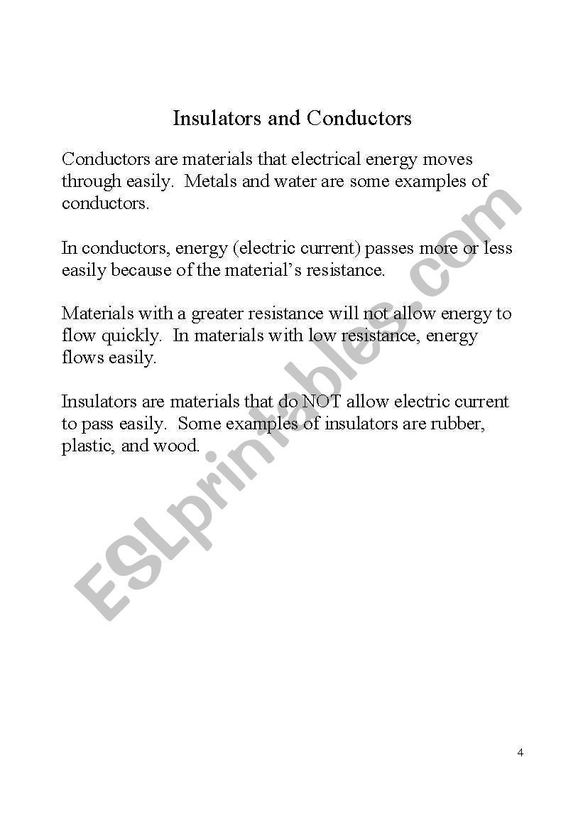 Study guide for Science 4th grade. Electricity. Part 3/8   Study guide [ 1169 x 821 Pixel ]