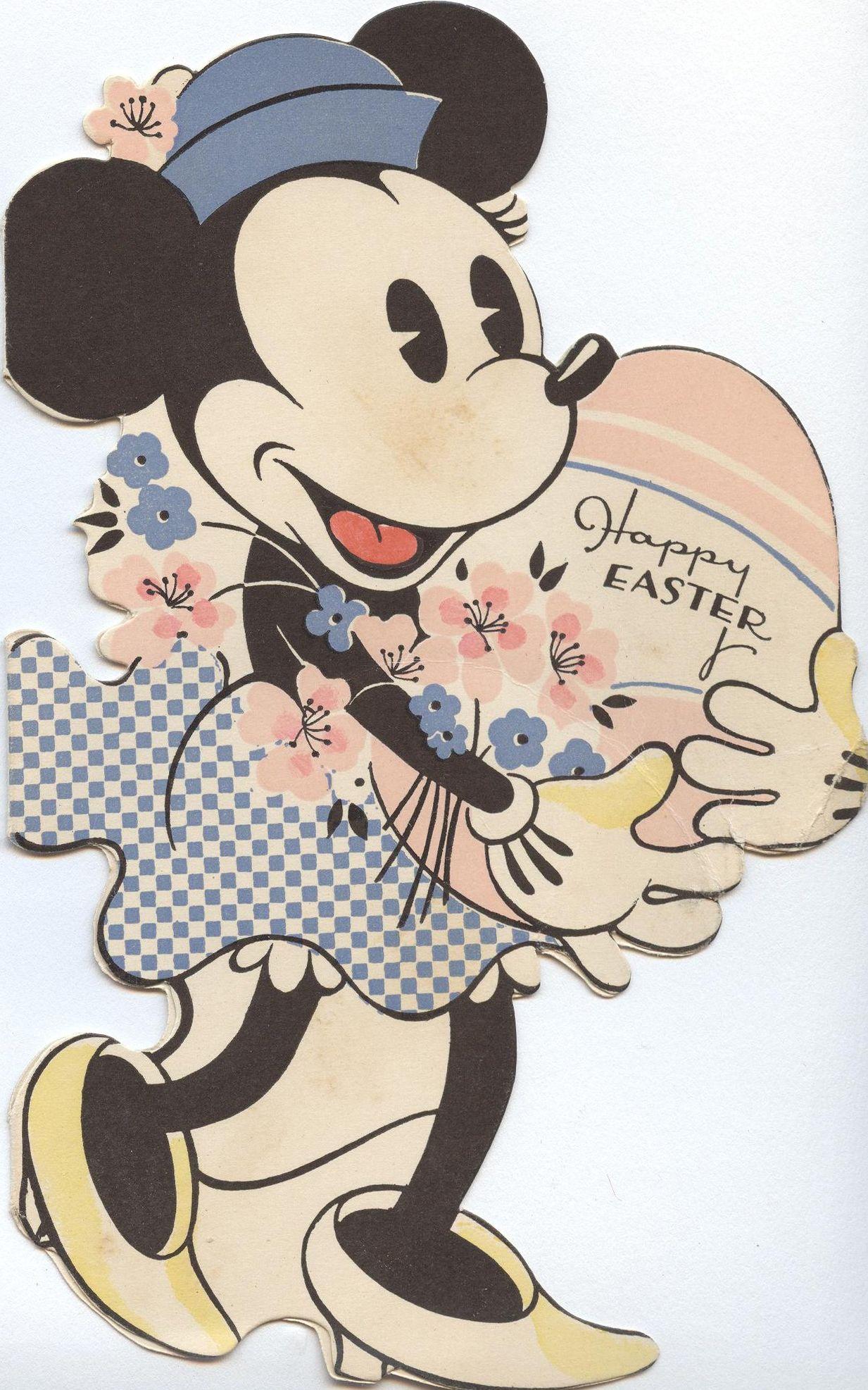 Minnie Mouse Easter Card Disney Easter Vintage Disney Vintage