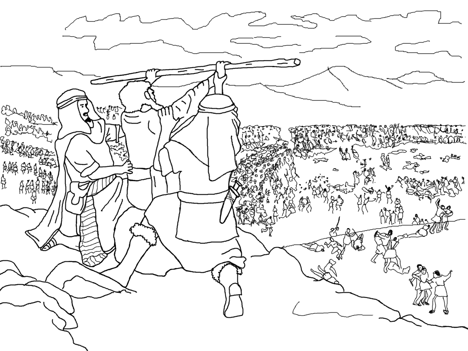 Moses Aaron And Hur Coloring Page
