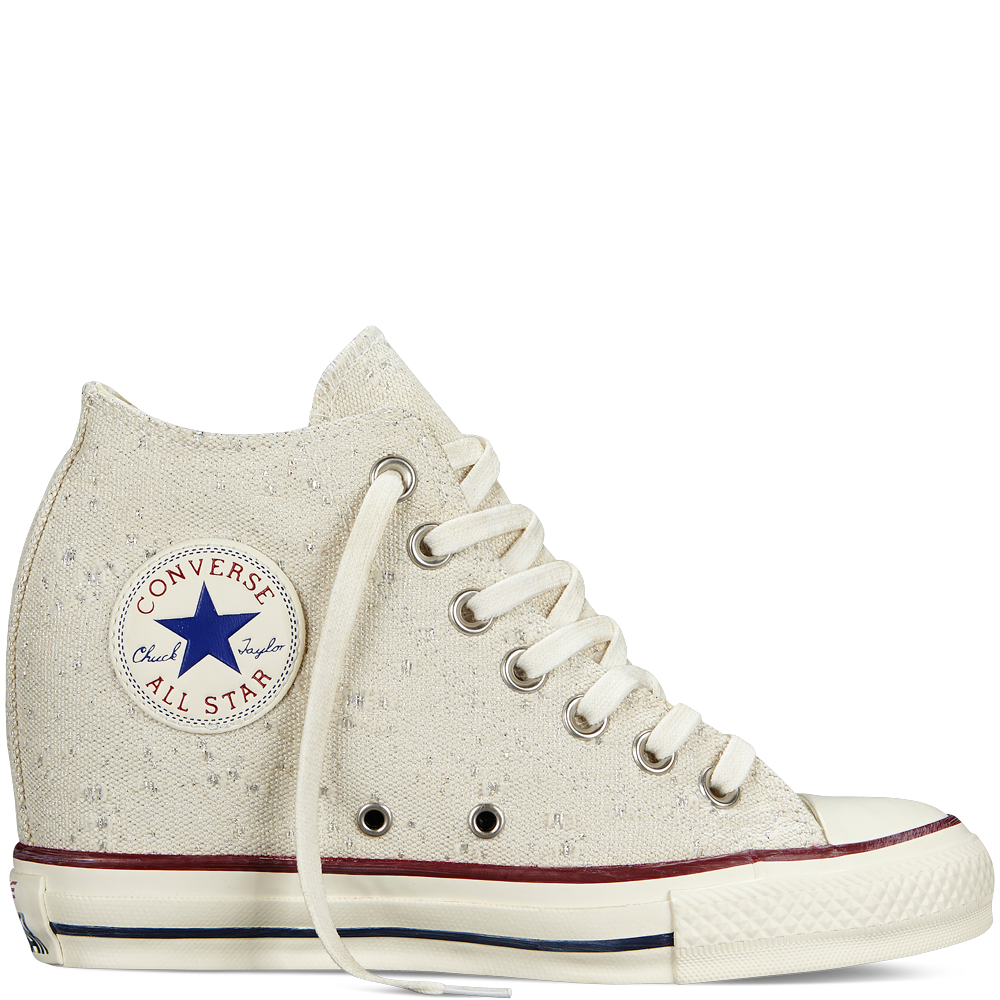 Converse Chuck Taylor All Star Lux Sparkle Lurex Natural Mid