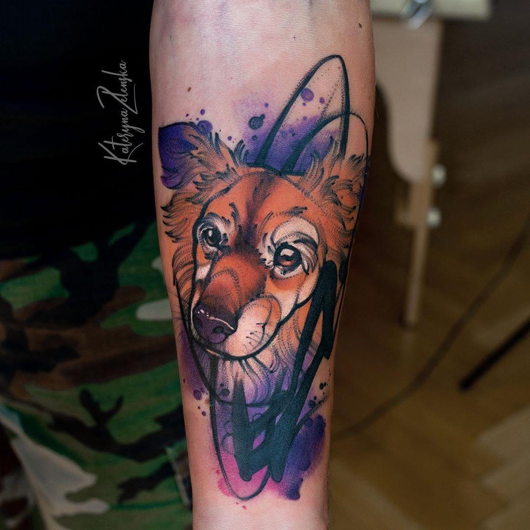 """Polubienia: 493, komentarze: 8 – Kateryna Zelenska (@tattoozelenska) na Instagramie: """"Kolejny piesek w mojej kolekcji:))) #tattoo #tattoozelenska #ink #tattooink #inktattoo #татуировка…"""""""