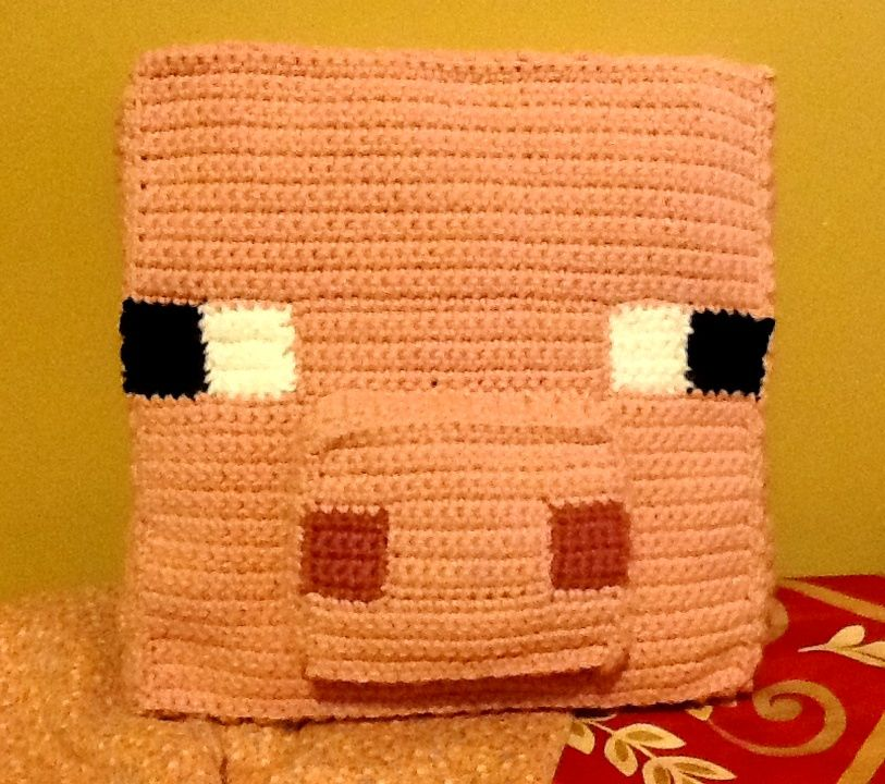 Crochet Minecraft Pig Pillow by ghost-skittles.deviantart.com on ...